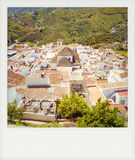 Instant photo of white town, Frigiliana Royalty Free Stock Image