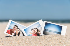 Instant Photo Of Young Boyfriend And Girlfriend Happy Couple Royalty Free Stock Photos