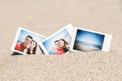 Instant Photo Of Young Boyfriend And Girlfriend Happy Couple Royalty Free Stock Image