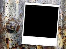 Instant Photograph on Rusty Metal Royalty Free Stock Photos