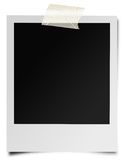 Instant photographic film. Illustration of blank instant photographic film taped to white surface Stock Images