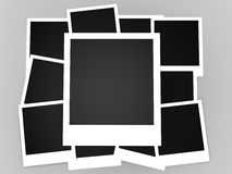 Instant photos isolated Stock Photography