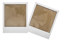 Instant polaroid photo frames. Clipping path Royalty Free Stock Photo