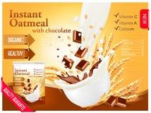 Instant porridge advert concept. Royalty Free Stock Photo