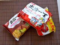 Instant ramen noodle soups royalty free stock photo