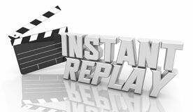 Free Instant Replay Review Rewind Rewatch Again Movie Clapper Words 3d Illustration Stock Image - 192448021