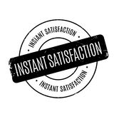 Instant Satisfaction rubber stamp Royalty Free Stock Photography