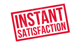 Instant Satisfaction rubber stamp Stock Photos