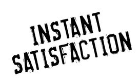 Instant Satisfaction rubber stamp Stock Photo