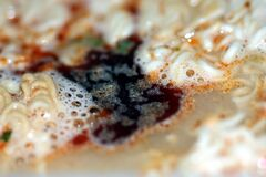Instant Shrimp Soup Stock Images