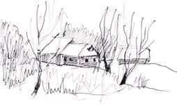 Instant sketch, November Stock Image