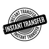 Instant Transfer rubber stamp Stock Image