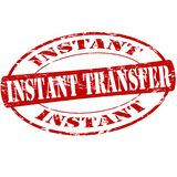 Instant transfer. Rubber stamp with text instant transfer inside,  illustration Stock Photo