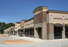 Instant Village. A suburban shopping center in Atlanta under construction, designed to appear like a small town main street Royalty Free Stock Photography