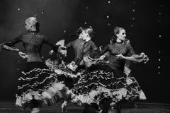 Instantaneous-Spanish flamenco-the Austria's world Dance Stock Photo