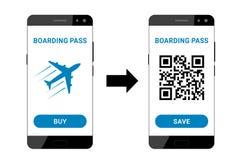 Instapkaart op smartphone Vector Illustratie