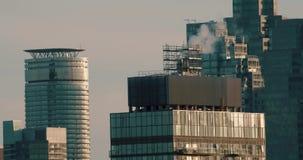 Instaurazione del colpo dei grattacieli stock footage