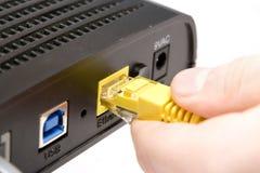 Insteek modem royalty-vrije stock fotografie