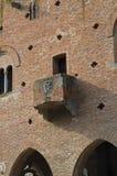 Instellingspaleis. Grazzano Visconti. Emilia-Romagna. Italië. Stock Afbeeldingen