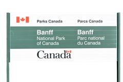 Instemmend in Banff met Nationaal Park Stock Afbeelding