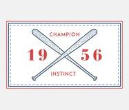 Instinto del campeón del béisbol ilustración del vector