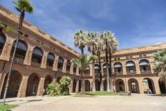 Institut antique de santé mentale, parc, Parc Nou Barris, Barcelone Photographie stock