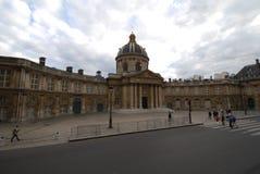 Institut de Γαλλία, Γαλλία, Pont des Arts, ουρανός, ορόσημο, κτήριο, πλατεία της πόλης Στοκ εικόνα με δικαίωμα ελεύθερης χρήσης