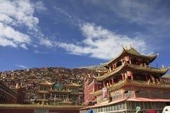 Institut de bouddhisme tibétain en Chine Images libres de droits