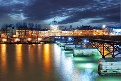Institut de France building in Paris, France at night Royalty Free Stock Image