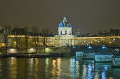 Institut de France em Paris, France Imagem de Stock Royalty Free
