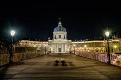 Institut de France et Pont des Arts Image stock