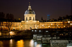 Institut de france at night Royalty Free Stock Images