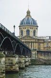 Institut De Frankreich in Paris, Frankreich Lizenzfreies Stockbild