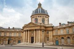 Institut de Frankrike i Paris, Frankrike Arkivfoton
