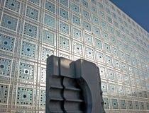 Institut du Monde Arabe i Paris Arkivfoton