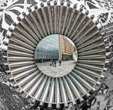 Institut du Monde Arabe, Paris Arkivbild