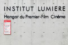 Institut lumiere i Lyon, Frankrike Royaltyfria Bilder