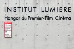 Institut lumiere in Lyon, Frankrijk Royalty-vrije Stock Afbeeldingen