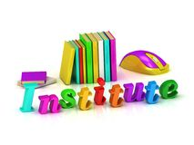 Institute 3d inscription bright volume letter Royalty Free Stock Photo