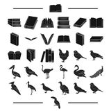 Institute, school, training and other web icon in black style.house, library, shop icons in set collection. Stock Images