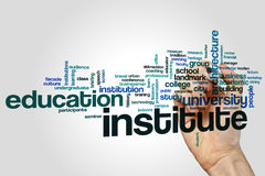 Institute word cloud royalty free stock image