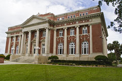 Institutional Building. Brick Romanesque style institutional building royalty free stock image