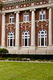 Institutional Building Components. Brick Romanesque style institutional building royalty free stock images