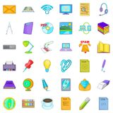 Institutional icons set, cartoon style. Institutional icons set. Cartoon set of 36 institutional vector icons for web isolated on white background Stock Images