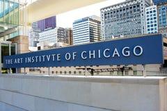 Instituto da arte de Chicago foto de stock