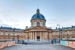 Instituto de Francia - academia de literatura en París Imagen de archivo libre de regalías