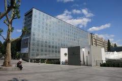 Instituto del mundo árabe en París, Francia foto de archivo
