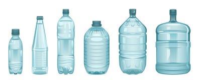 inställda flaskor Royaltyfri Fotografi