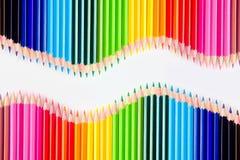 inställda färgblyertspennor Fotografering för Bildbyråer
