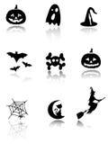 inställda halloween symboler Arkivfoto